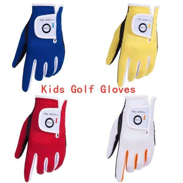 Tay Trái Găng Tay Chơi Golf Trẻ Em Mưa Grip Nóng Ướt Thoáng Khí Mềm Mại Trẻ Em Thiếu Niên LH RH S M L Bền 2 Bộ Lô Tuổi 2-10 Tuổi