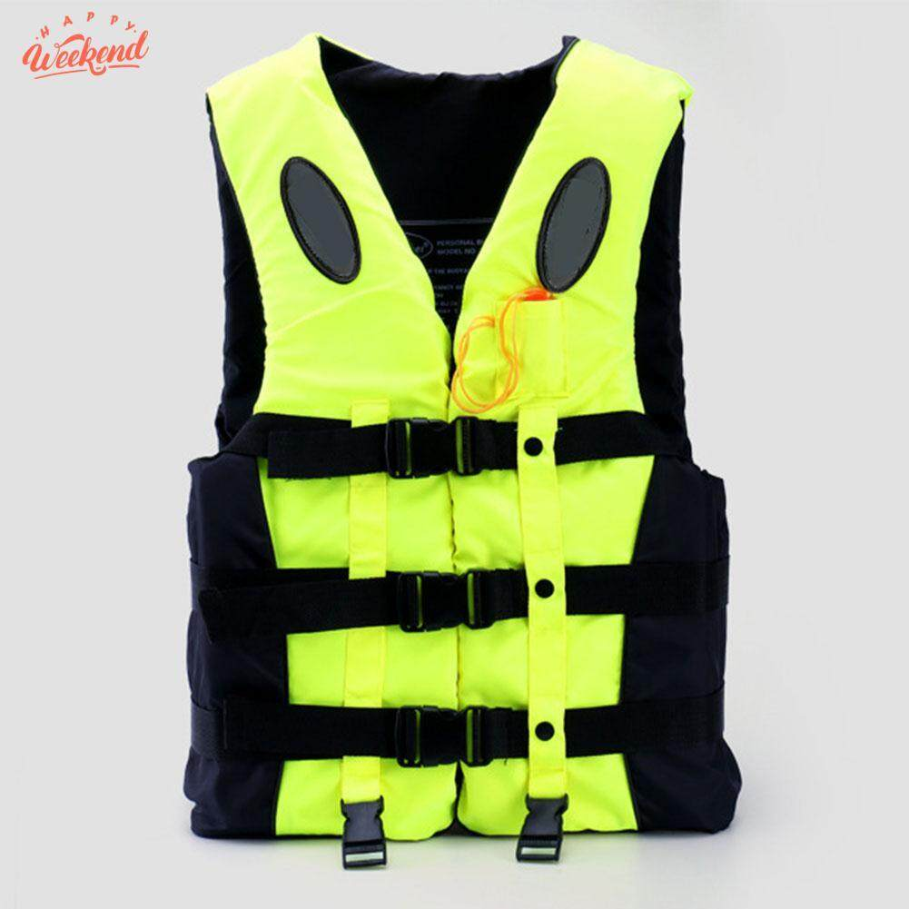 SWIMMING LIFE JACKET WATERSPORT VEST Fishing Life Jacket Durable Adjustable with WHISTL Oxford Cloth Outdoor Equipment
