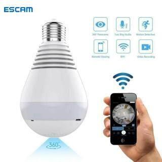 Camera Giám Sát IP Từ Xa ESCAM, LED Bóng Đèn, Camera An Ninh CCTV 360 1080P HD WiFi Webcam thumbnail