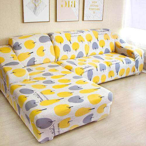 [2 Pieces] 3 Seaters L Shape Sofa Cover Stretchable Fabric Sofa Cover Easy Installment Universial Sofa Cover for L Sofa