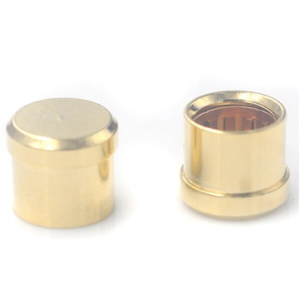16Pcs Gold Plated Short Circuit Socket Phono Connector RCA Shielding Jack Socket Protect Cover Caps