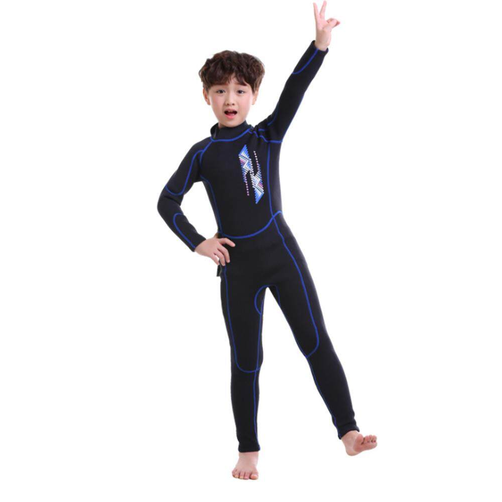 26d22b3396 [Hengbaixin]2.5MM Neoprene Long Sleeves Kids Wetsuits Diving Suits One  Pieces Surfing Clothing