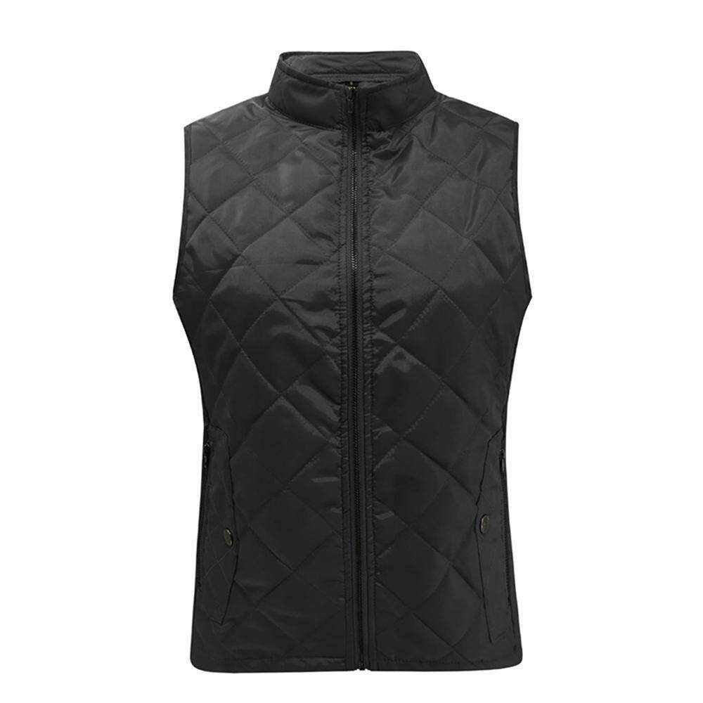 53e9f62841b0a efuture Ladies autumn and winter solid color fashion casual stand collar  pocket sleeveless cotton vest