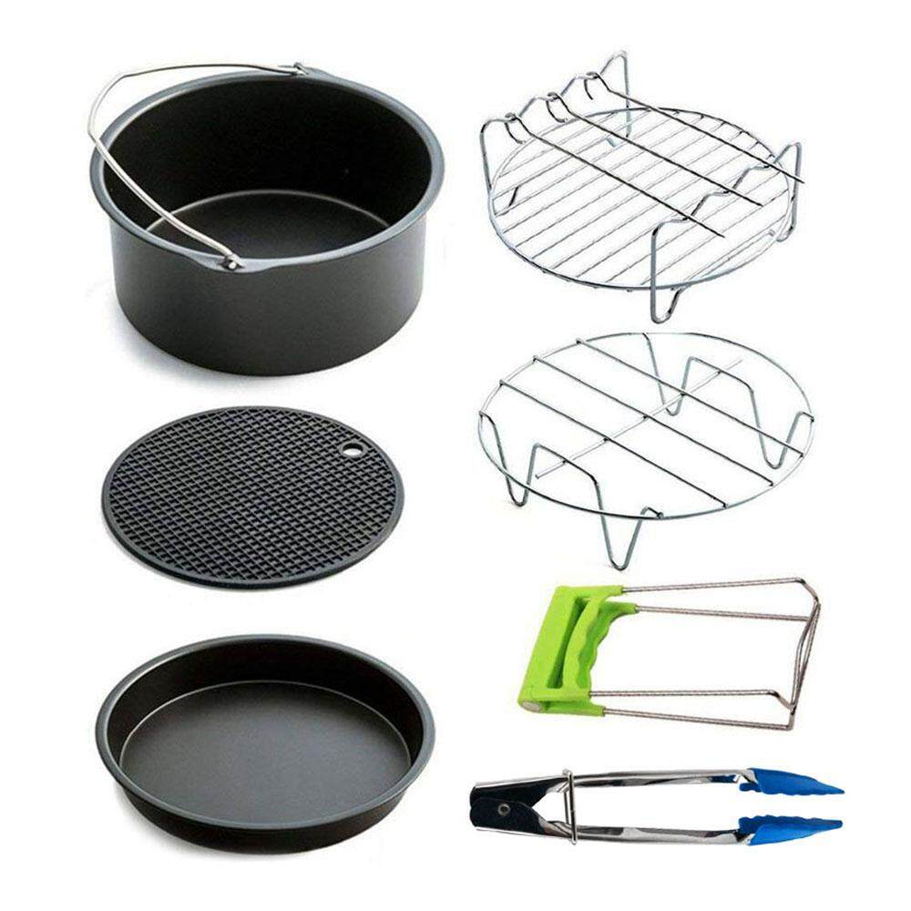 Baking Cake Air Fryer Accessories Useful Metal Non-Stick 7pcs Portable Silicone Cushion Kitchen