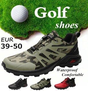 Giày Golf Nam Mùa Xuân Hè, Giày Thể Thao Ngoài Trời Thoáng Khí, Giày Chơi Golf Nam Giày Chơi Golf Cỡ Lớn Màu Đen Đỏ Dành Cho Nam thumbnail