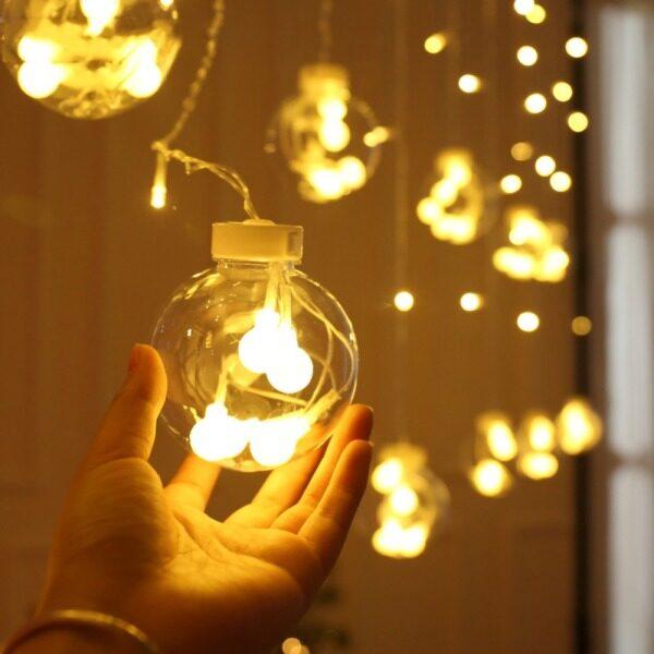 Bảng giá Bóng Đèn Dây Rèm Bóng Chúc Mừng Đèn Trang Trí Giáng Sinh Ngày Lễ, Đèn Ngủ Rèm Trong Nhà