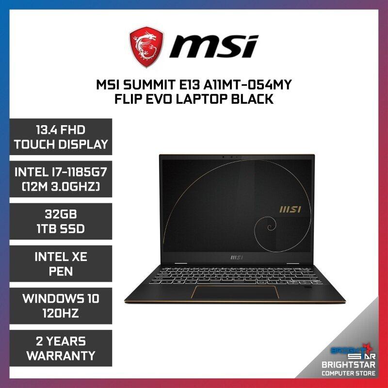 MSI Summit Evo SE13 Laptop (13.4 Inch FHD Touch Screen 120Hz   Intel Core   I7-1185G7 (12M 3.0GHZ)   32GB RAM   Intel IRI Super XE Graphic   Windows 10   2 Years Warranty) Malaysia