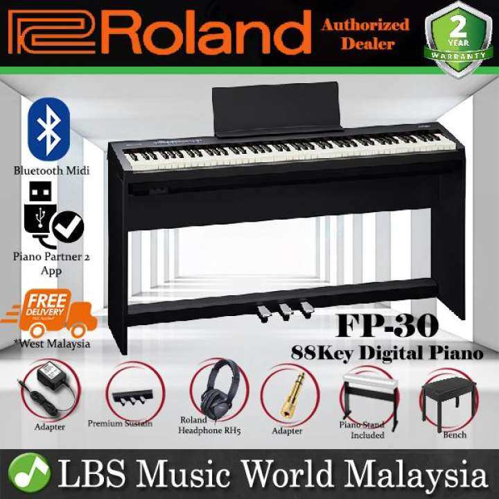 Roland Fp 30 Digital Piano Black Complete Package Electric Keyboard Fp30 Fp 30 Lazada