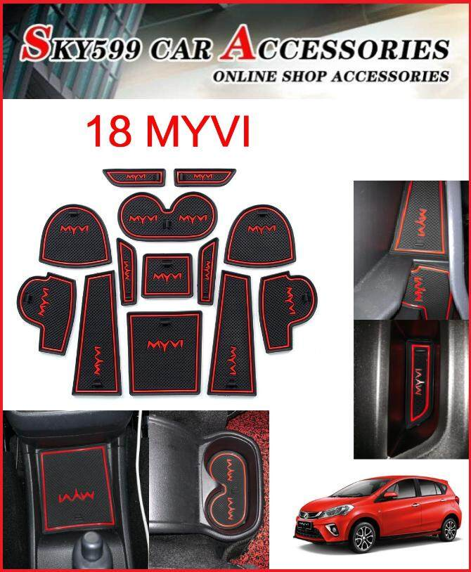 Perodua MYVI 2018 Interior Slot Mat Storage Tank Mat (13pcs/Set)