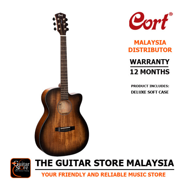 Cort Core-OC All Mahogany Full Solid Acoustic Guitar Fishman Sonitone EQ With Premium Padded Gigbag Malaysia