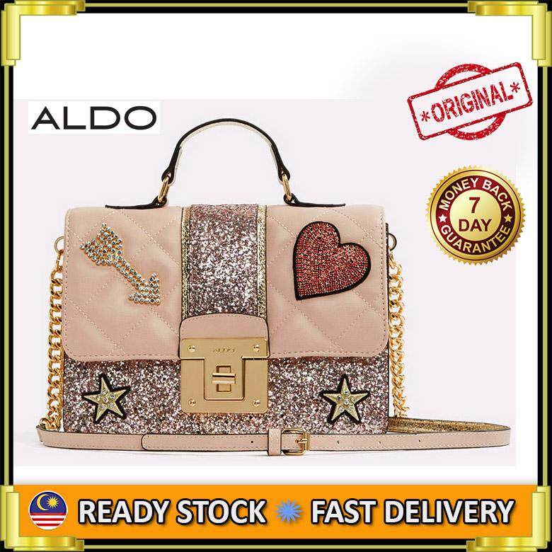 bc92f2e16f9 AUTHENTIC ALDO GLITTER SATCHEL CROSSBODY SHOULDER BAG SLING BAG (PINK MULTI)