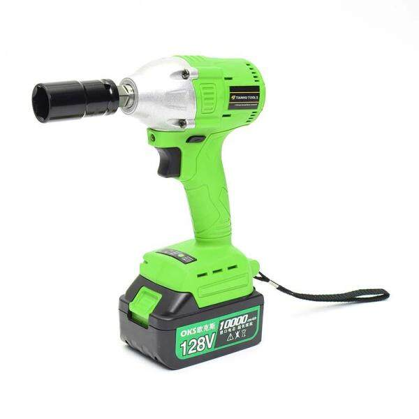 128V Cordless Lithium-Ion Electric Impact Wrench Brushless 3 Speed Torque 320 Nm