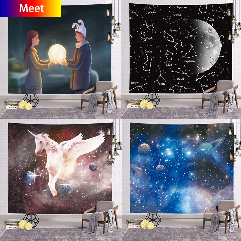 Tấm Thảm Trang Trí Tường Mandala Anime Vải In Nghệ Thuật Treo, Trang Trí Phòng Ngủ Phòng Khách Gia Đình