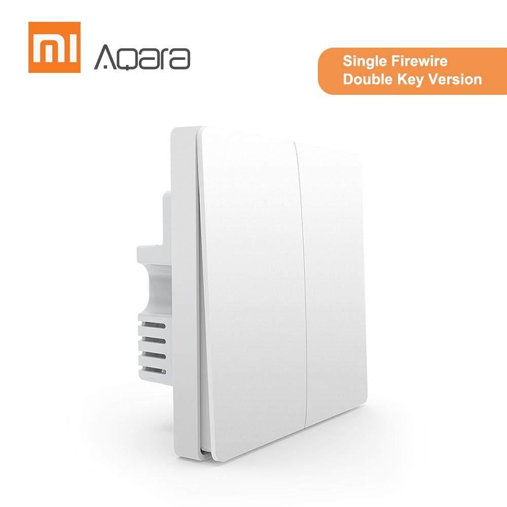 Aqara QBKG03LM Âm Tường Nhà Thông Minh Chuyển Mạch Điều Khiển Từ Xa Nhà Bộ App Mi Home (Đơn FireWire Chìa Khóa Đôi Phiên Bản)