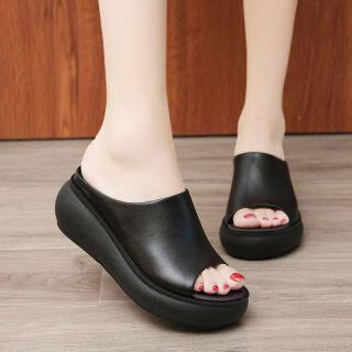 Dép đế xuồng cho nữ giày công sở Dép cao su cho nữ Giày đế xuồng kiểu mới 082002 thumbnail