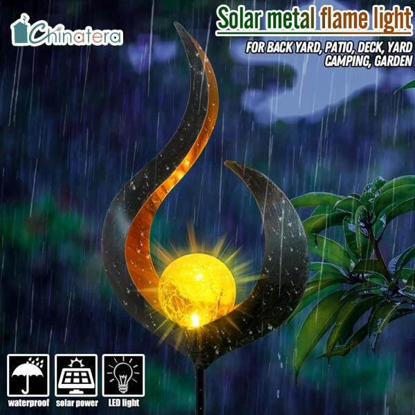 Đèn LED Năng Lượng Mặt Trời Mô Phỏng Ngọn Lửa, Đèn Lồng Trang Trí Cảnh Quan Lối Đi Ngoài Trời, Chống Thấm Nước
