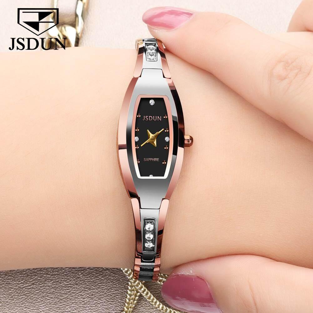 JSDUN Luxury Ladies watch women Rose gold Tungsten steel bracelet Rhinestone Small dial Dress montre femme relogio feminino saat Malaysia