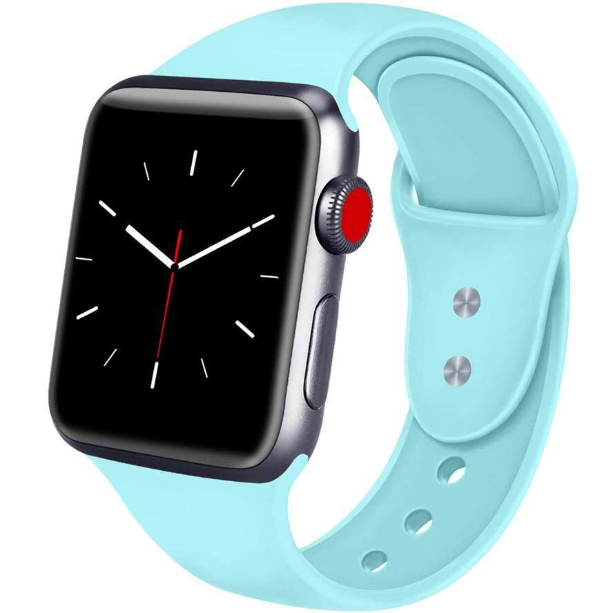 Apple Watch 38 Mm 42 Mm, lembut Silicone Pengganti Sport Band IWatch Tali untuk Apple