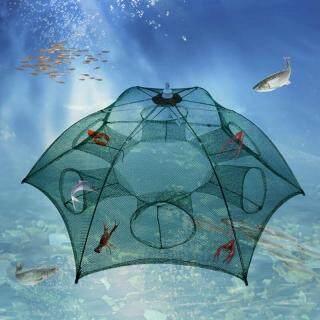 Gấp Tiện Lợi Lưới Đánh Cá Tôm Hùm Lồng Tôm Càng Cua, Cua Nhỏ Cá Tôm Bẫy Dễ Dàng Sử Dụng Hình Lục Giác Tự Động Bẫy Lỗ Lồng thumbnail