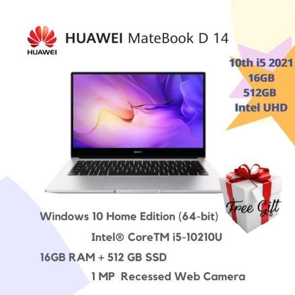 💻HUAWEI MateBook D14 10th i5 2021💻 (Mystic Silver) + 🎁RM399 Malaysia