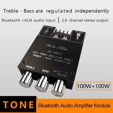 ZK-1002T TPA3116D2 Bluetooth 5.0 Loa Siêu Trầm Bảng Khuếch Đại 2*100W 2.0 Kênh Công Suất Cao Bộ Khuếch Đại Âm Thanh Bảng Khuếch Đại Bass AMP