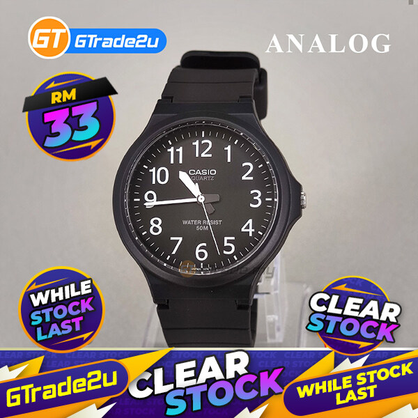[CLEAR STOCK] CASIO ANALOG MW-240-1B Mens Watch | Large Case 50m Resist Malaysia