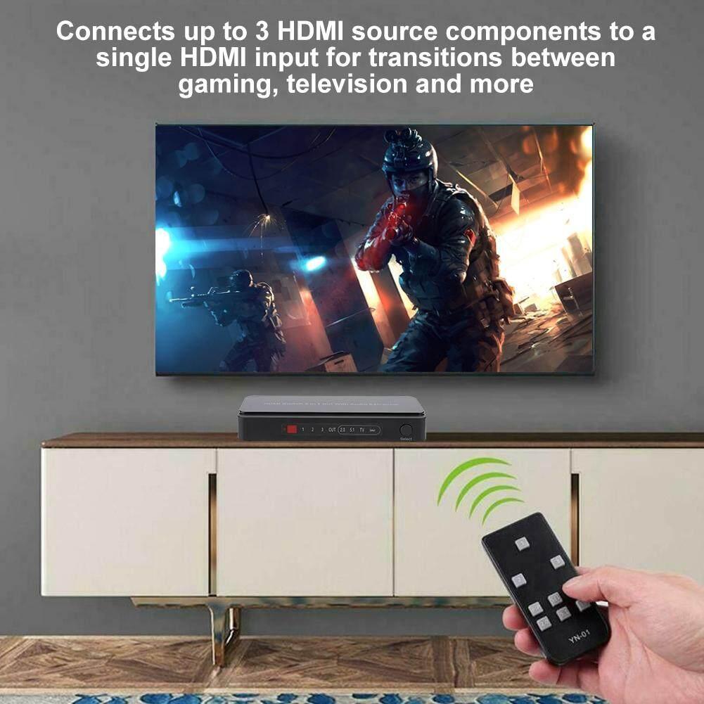 Qianmei GV-301B HDMI Video Âm Thanh Máy Hút 3x1 HDMI Hộp Công Tắc Với Điều Khiển từ xa HỒNG NGOẠI Nhật Bản