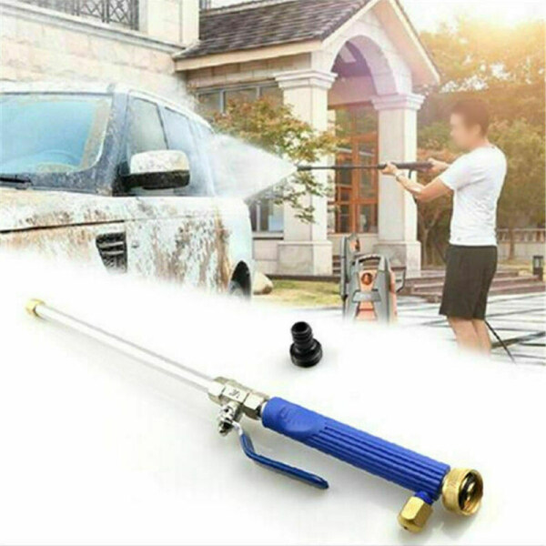 Tool Nest 2-in-1 Brass High Pressure Power Washer +2 Nozzles for Car Sidewalks Washing + 1 Pcs Water Pipe Connection