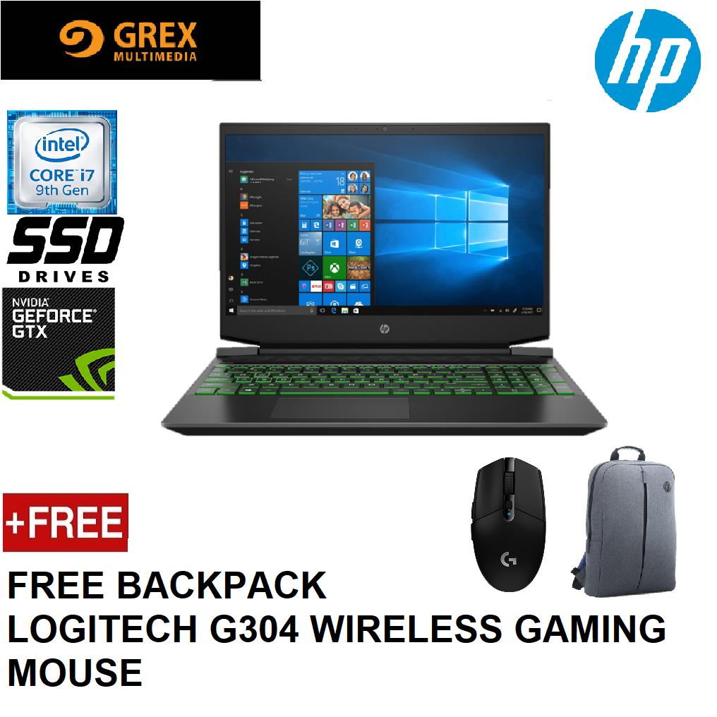 HP PAVILLION GAMING LAPTOP 15-DK0243TX (I7-9750H,8GB,512GB SSD,15.6 FHD,GEFORCE GTX1660Ti 6GB,WIN10) FREE BACKPACK + LOGITECH G304 WIRELESS GAMING MOUSE Malaysia