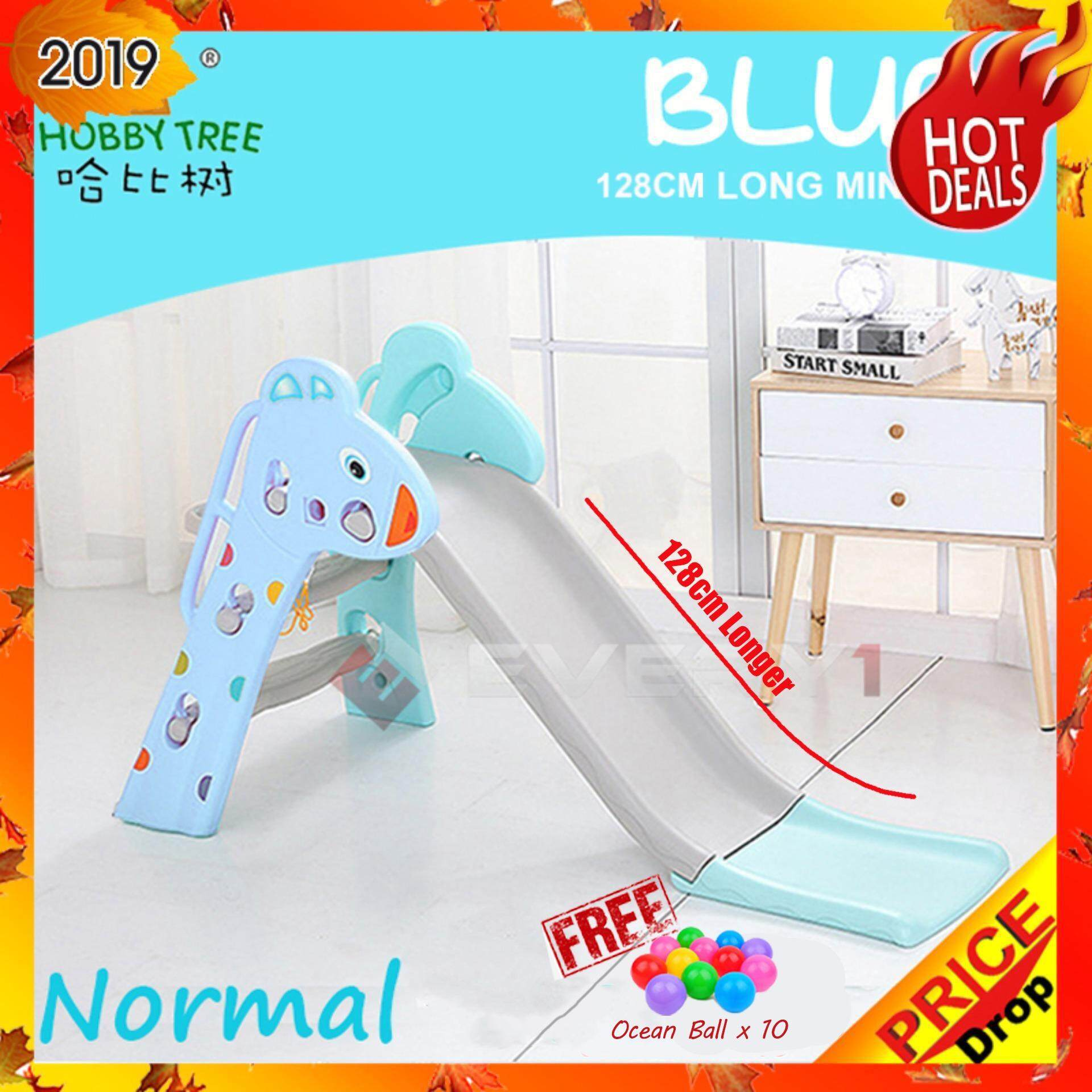 (HOT ITEM) HOBBY TREE (HT80) Indoor Home Playground Extra Safety And  Stability DIY 128 cm Long Children Mini Slide Kids Slide toys for girls