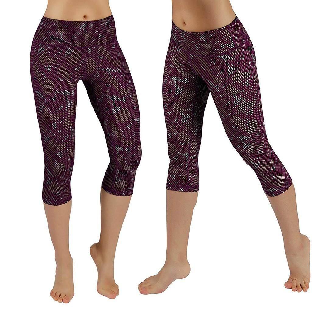 c99ca370944687 Endowed Women's High Waist Pocket Camouflage Yoga Pants Tummy Control  Running Leggings