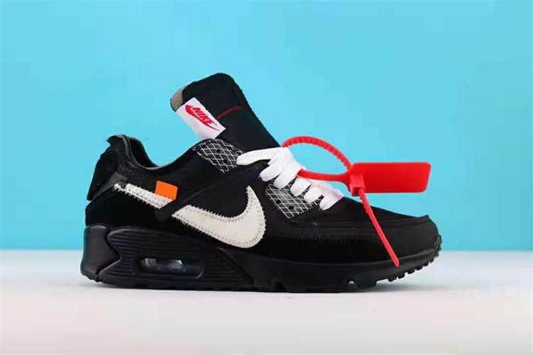 Nike Asli NIKE Air MAX90 X Putih 90 Hitam Penjualan Global Sepatu Kets Pria 39016f9aa2