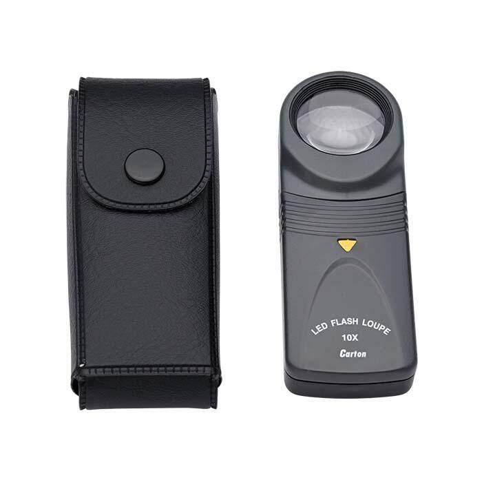 Carton Multiple Purposes Magnifier LED Flash Loupe 10X