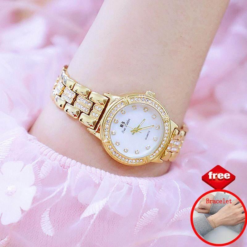 Homester Bs Beesisiter แฟชั่นสำหรับผู้หญิงนาฬิกาแบรนด์ชั้นนำ Luxury Casual นาฬิกาข้อมือควอตซ์ผู้หญิงสแตนเลสนาฬิกาข้อมือโลหะสาวของขวัญ Lady Clock【 + ฟรีของขวัญ 1 Pcs Stylish และประณีต Bracelet】.