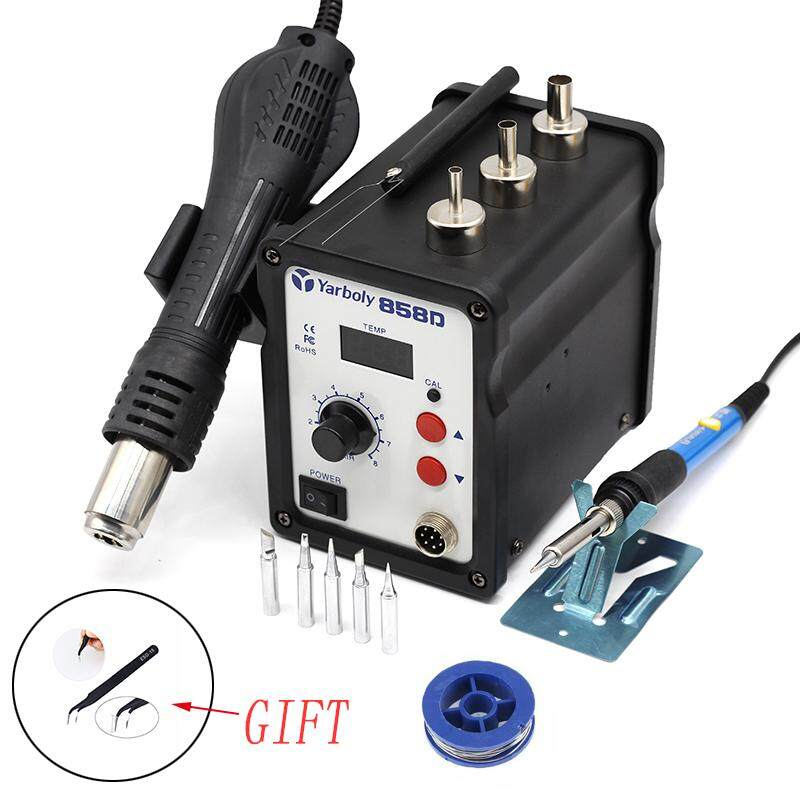 Yarboly 858D+ Soldering Station Digital Hot Air Heat BGA SMD Rework Set With Gift
