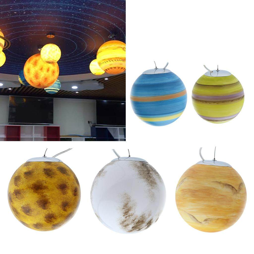 Perfk Universe Planets Mars Ceiling Lamp Shade for Bedroom Living Room Bar