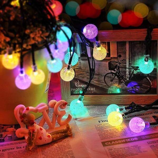 Đèn Trang Trí Ngoài Trời Chinatera 50 Bóng, Dây Bóng Đèn LED Tròn Thủy Tinh Sử Dụng Năng Lượng Mặt Trời, Dài 10M, Chống Nước IP65, Dùng Cho Sân Vườn, Giáng Sinh, Chụp Ảnh,
