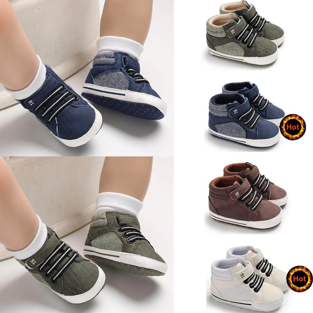 c7789ba6d62cc Baby Soft Sole Crib Shoes Infant Boy Girl Toddler Sneaker Anti-Slip 0-12  Months