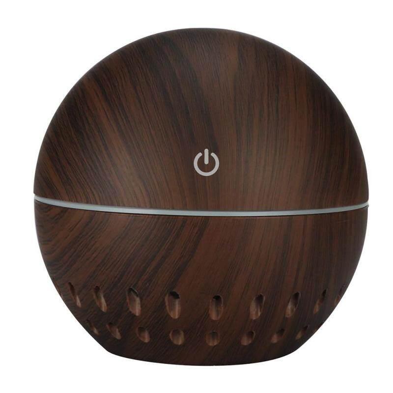 〔questionno〕130mL Wood Grain USB Aroma Essential Oil Diffuser Ultrasonic Air Humidifier Singapore