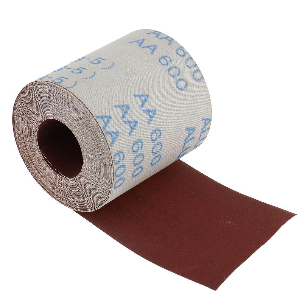 Dolity 11 Yards 3.84inch Emery Cloth Roll 600 Grit Waterproof Sandpaper for Cleaning Copper Pipe and Fittings DIY Tools