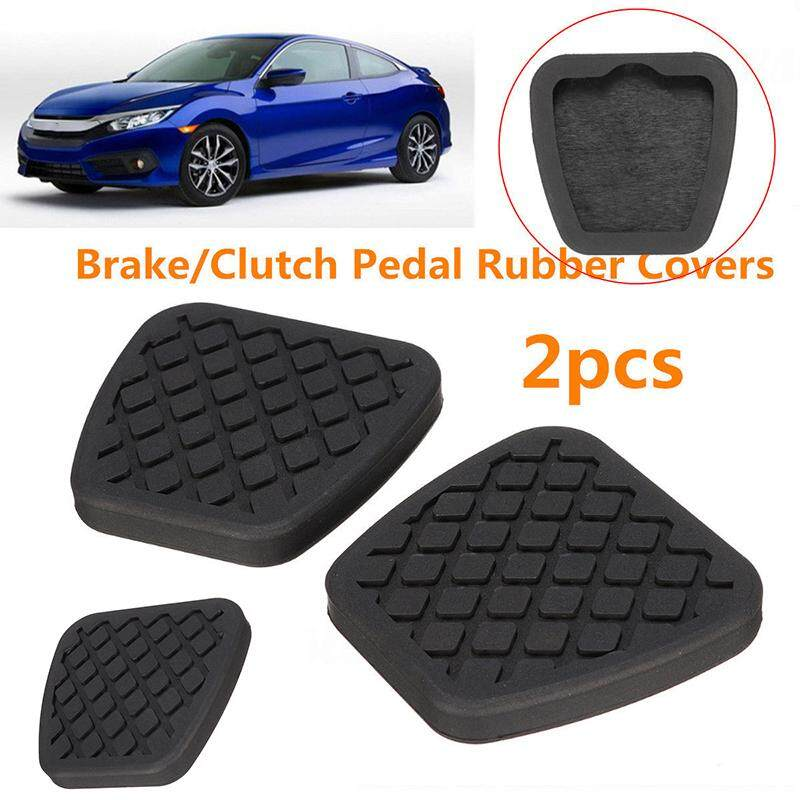 3pc Silver Car Non-Slip Pedal Foot Rest Pad Cover for Honda Accord Civic Prelude