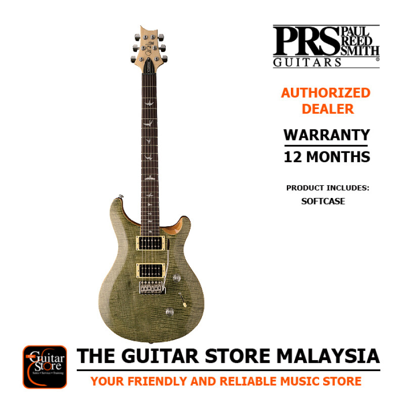 PRS SE Custom 24 Trampas Green Premium Electric Guitar Coil Split With Padded Gigbag (Made In Indonesia) Malaysia