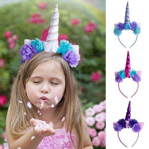 6 Magical Unicorn Horn Head Band Party Kids Hair Headband Fancy Dress
