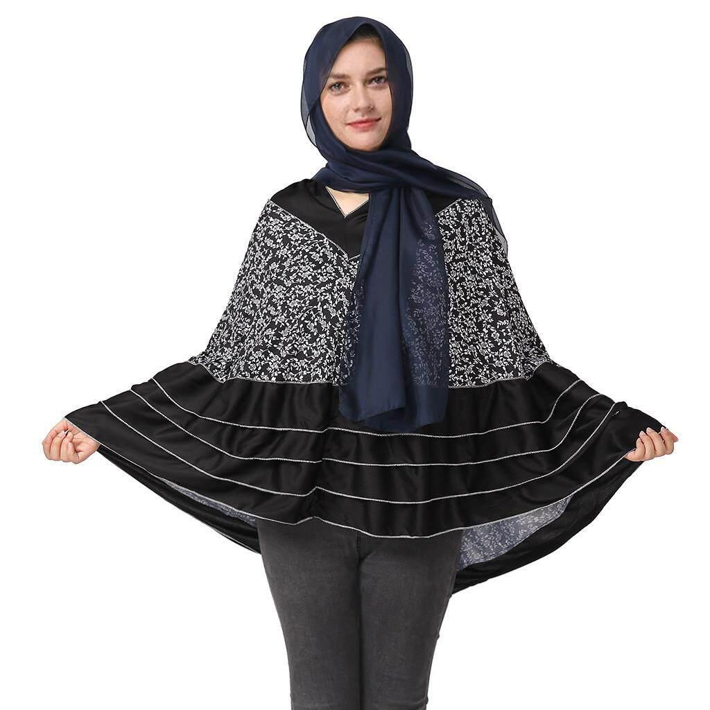 34dd8dd99930da Fashion Long Sleeve Printing Muslim Cloak top Arab Clothes Islamic Kaftan  Abaya