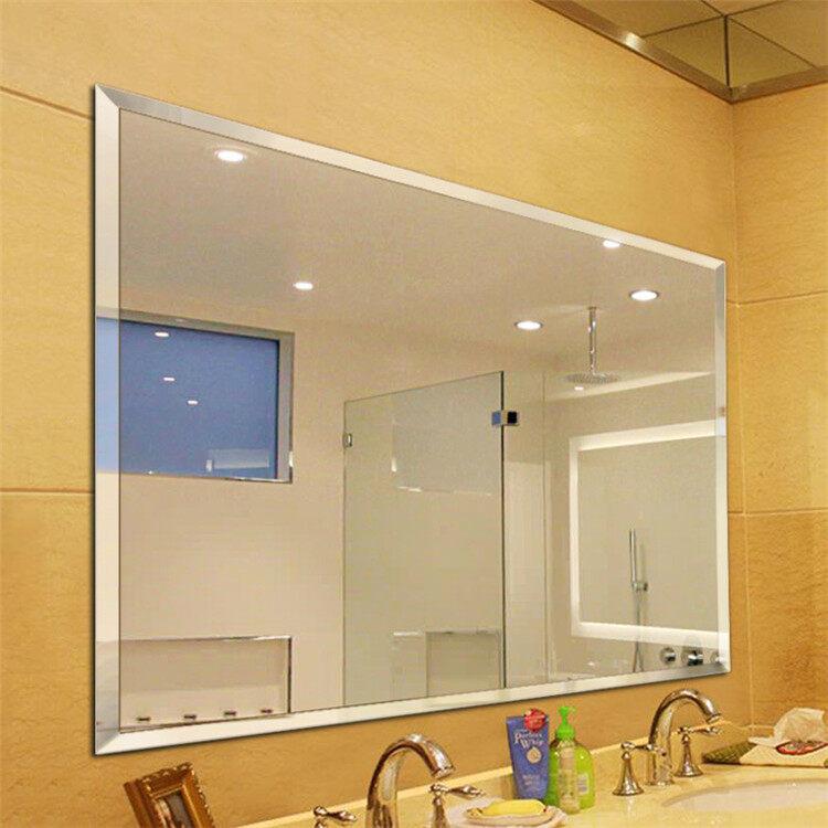Simple European Frameless Hypotenuse right angle Mirror Makeup Mirror Bathroom Mirror Toilet Toilet Glass Mirror Wall Mirror 45 X60cm