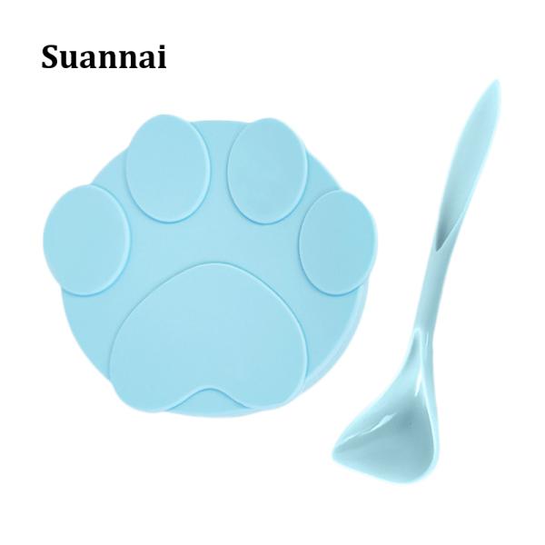 Thực Phẩm Đóng Hộp Suannai Cho Mèo, Muỗng Cho Ăn Nắp Kín Thông Dụng, Nắp Silicon Nắp Giữ Tươi Muỗng Thức Ăn Cho Chó Mèo