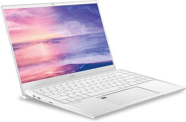 MSI Prestige 14 A10SC-230 14 UHD 4k Ultra Thin and Light Professional Laptop Intel Core i7-10510U GTX1650 MAX-Q 16GB DDR4 512GB NVMe SSD Win10Pro TB3, White Malaysia