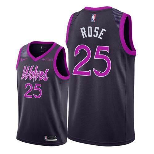 52b919da621 Nike Official MEN Minnesota Timberwolves Derrick Rose  25 Nike Black  Hardwood Classics Swingman Basketball Jersey