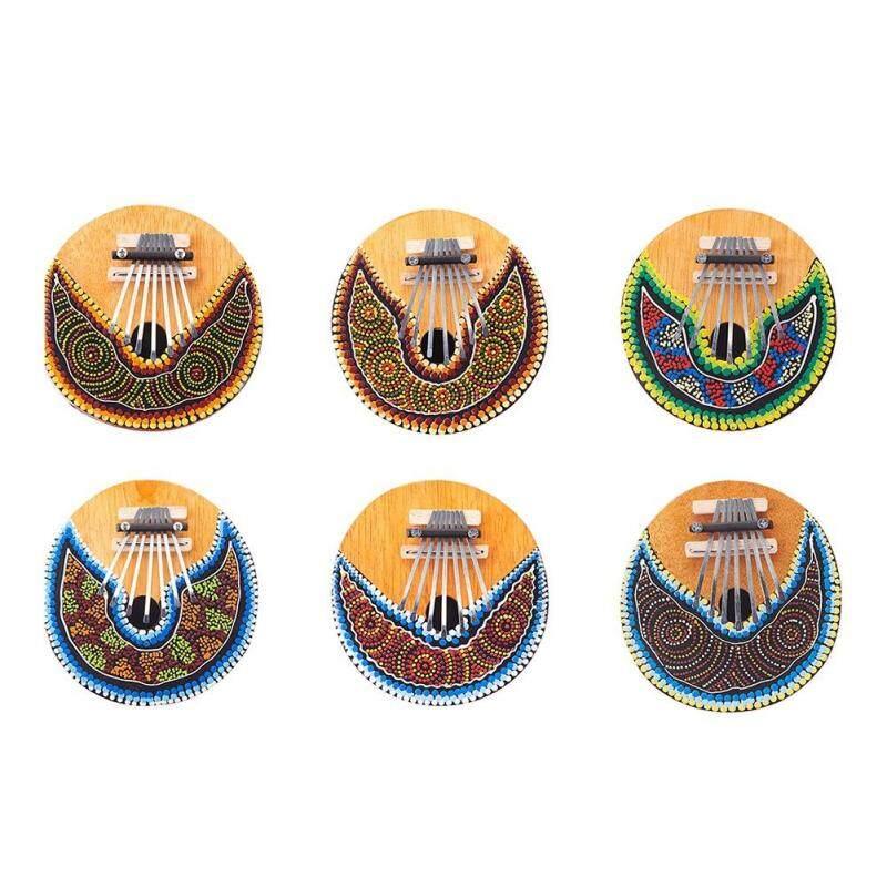 Kalimba Thumb Piano - 7 keys - Tunable - Coconut Shell - Painted Malaysia