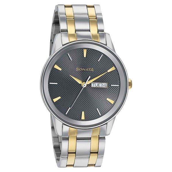 Sonata Wedding Edition - Grey Dial Bimetal Strap Watch  - Men - 7133BM02 Malaysia